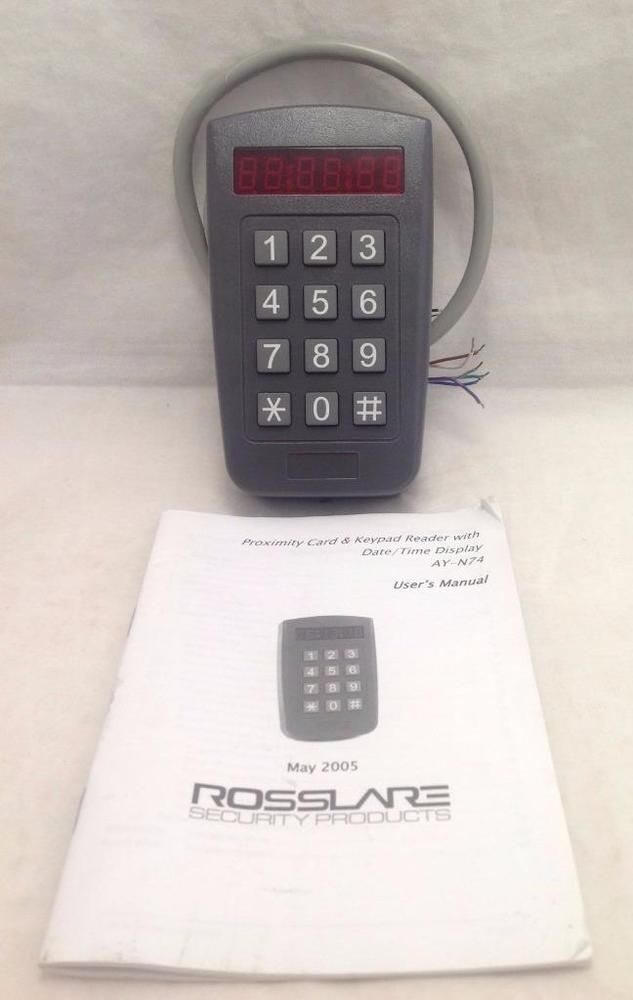 Rollare AY-N74 Proximity Card Reader with Date/Time Display with Manual #Rosslare