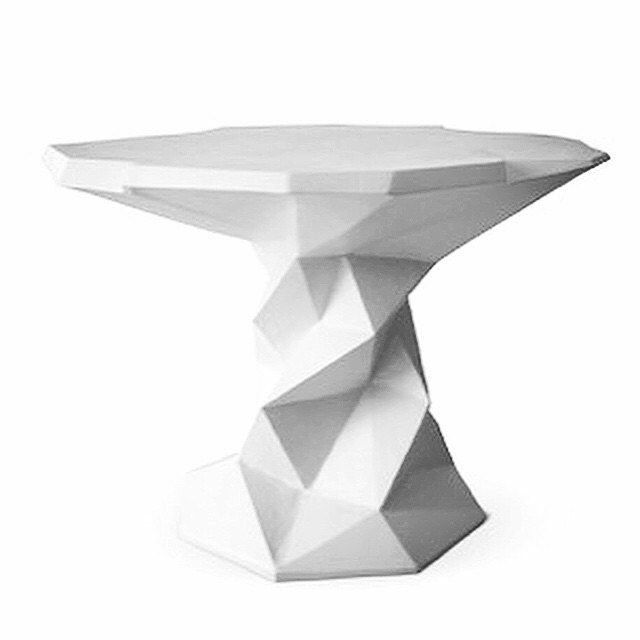 minimal furniture design. plaster table by stephencantonson white minimal furniture design geometric p