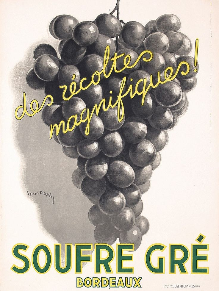 Great Original 1930s French Wine Poster DUPIN Art - by PosterConnection Inc.