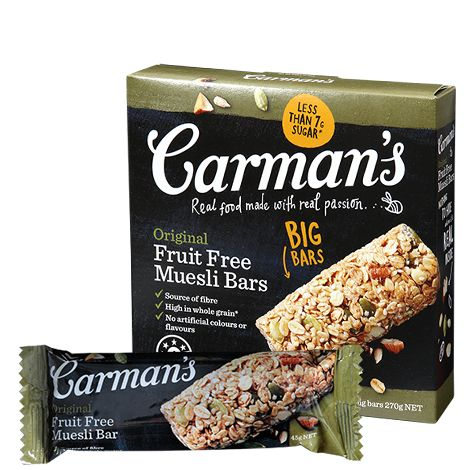 It's simply our muesli in a bar! Chock full of Australian wholegrain oats, crunchy nuts, wholesome seeds and cinnamon, you'd best squirrel these fruit-free bars away for yourself!