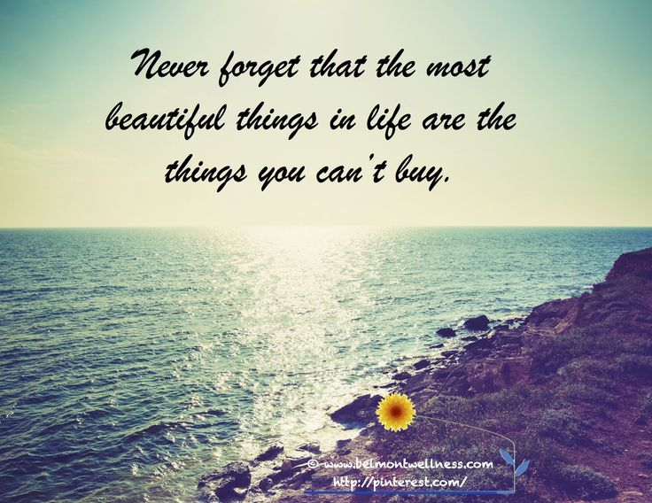 The Most Important Things In Life Can T Be Bought The