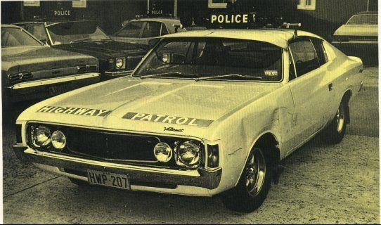 """Historic"" Australian Police cars, 1978 Chrysler Valiant Charger V-8 Hardtop. ""Hey Charger"""