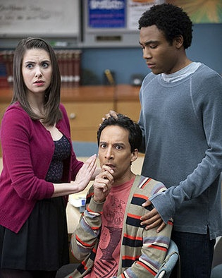 Community: Annie (Alison Brie), Abed (Danny Pudi), and Troy ( Donald Glover).