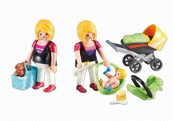 Pregnant Woman and Mother with Baby - 6447 - PLAYMOBIL® USA