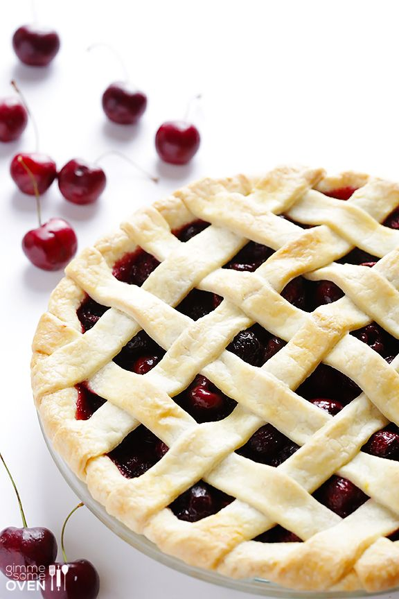 Oh My! Sweet Cherry Pie Recipe at gimmesomeoven.com @Ali Velez Velez Velez Ebright (Gimme Some Oven)