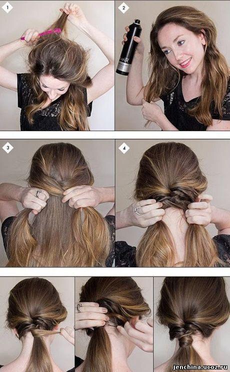 простые прически из длинных волос