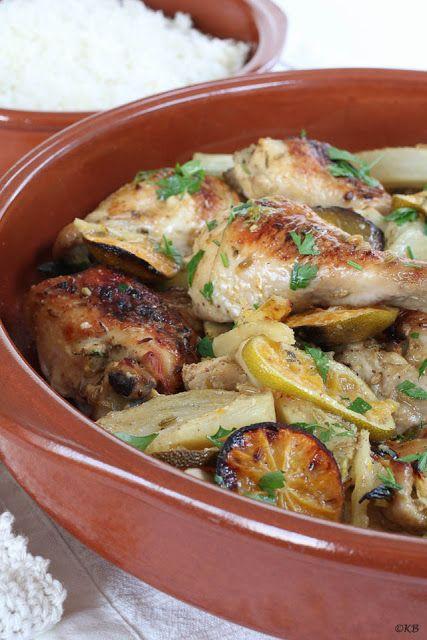 Kip uit de oven met venkel en mandarijn