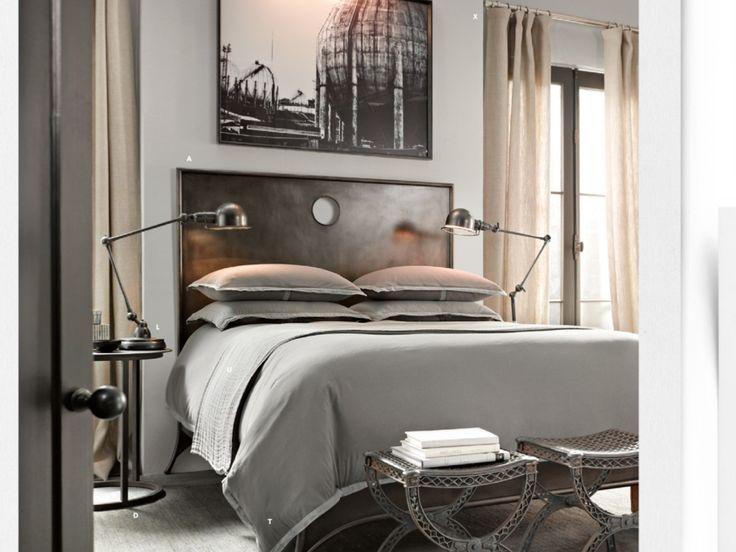Grey And 1800u2032s Inspired Bedroom Design