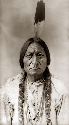 Sioux chief and warrior Sitting Bull. Sitting Bull is remembered as the man who defeated Custer and his 7th Cavalry.: