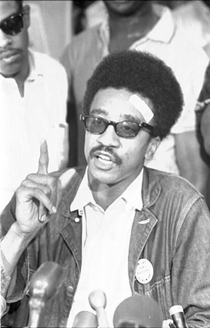 H. Rap Brown, SNCC [i.e., Student Nonviolent Coordinating Committee], news conf[erence]. Photo by Marion S. Trikosko, July 27, 1967.  U.S. News & World Report Magazine Photograph Collection, Library of Congress Prints and Photographs Division.