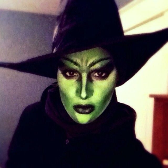 Wicked Witch drag makeup.