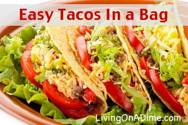 Easy Tacos in a Bag Recipe (we make these using Nacho Doritos too!)
