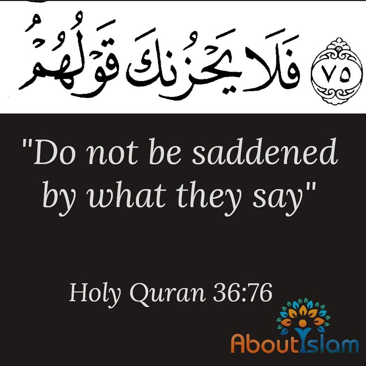 So let not their speech grieve you.  Indeed, We know  what they conceal and  what they declare.  Surah Ya-Sin 36:76