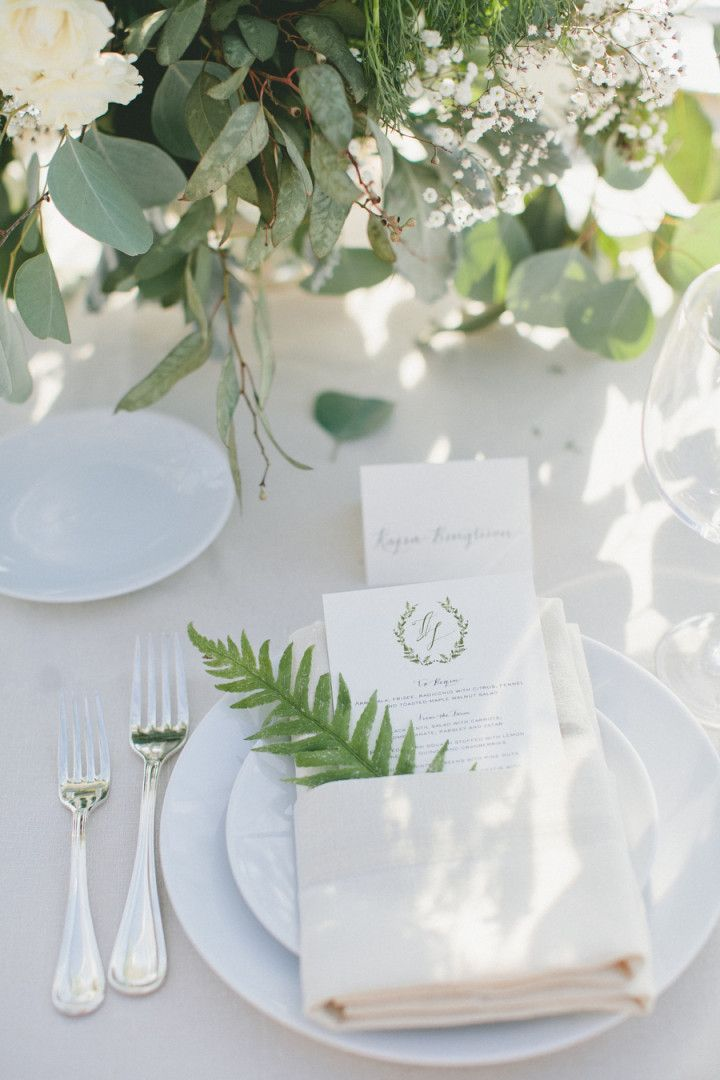 A Lovely California Wedding Affair from onelove photography - wedding menu card