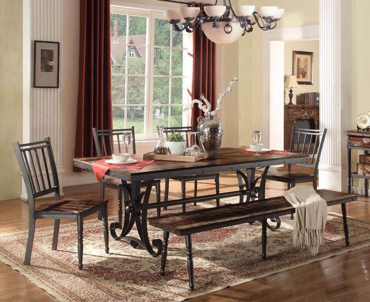 Copy Of Lifestyle Walnut/Wood Dinette Set   Dinette   Triad Furniture  Distributors