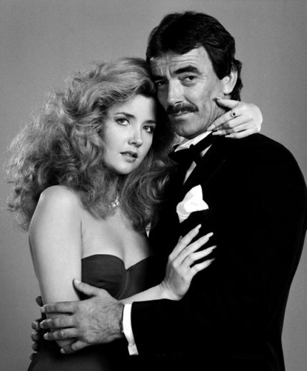 """Victor Newman and Nikki Reed """"The Young and the Restless"""".  Teaching Ricky a lot about my mom's """"stories"""" from back in the day."""