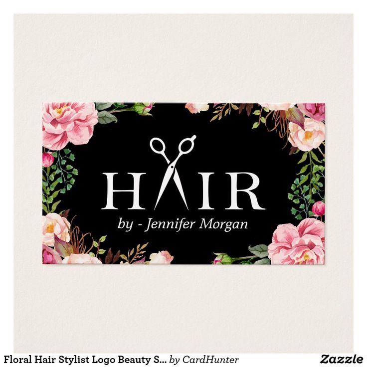 floral hair stylist logo beauty salon appointment hair salon logos order hair salon logos sample