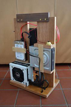 Resultado de imagen de homemade wooden pc case
