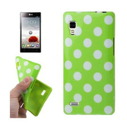 Polka Dots (Vihreä) LG Optimus L9 Suojakuori