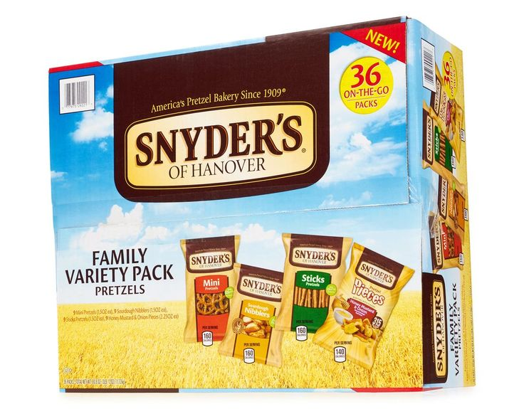 use this link to sign up and you'll get $15 off your order and free shipping!! https://www.boxed.com/invite/8238B  Pretzels in every shape. However you like them, Snyder's of Hanover pretzels give you that delicious crunch for the perfect snack!• Honey Mustard & Onion Nibblers - Bite-size pieces made from Snyder's famous sourdough recipe, and coated with a unique blend of seasonings... like the delectable honey mustard and toasted onion on these Honey Mustard & Onion Nibblers.• Sourd