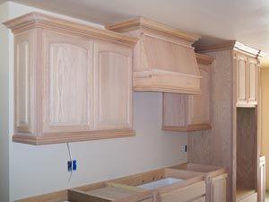 Eyebrow Kitchen Cabinets Unfinished Kitchen Cabinets Stove Hood