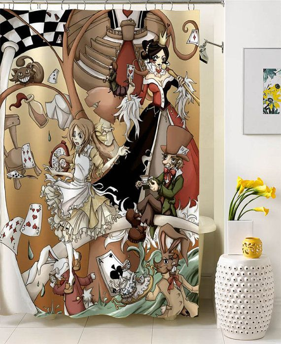 Curtains Ideas alice in wonderland curtains : 17+ images about shower curtain on Pinterest | Disney frozen ...