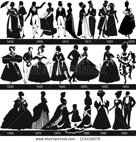 Clip Art for sale of 1800's Silhouettes. | Historical Info ...