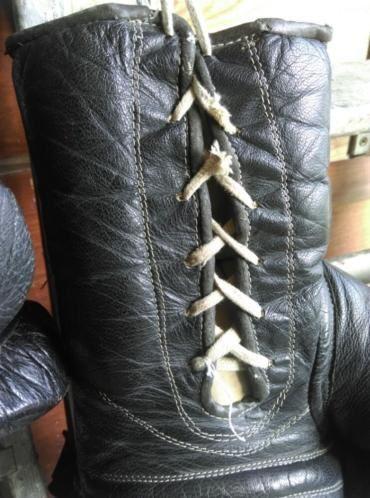 Oude Brocante Vintage Bokshandschoenen Zwart