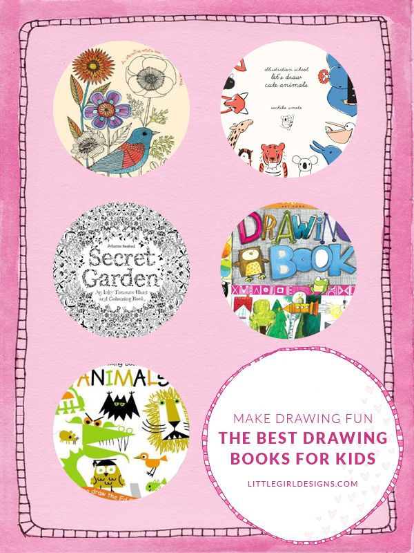 Make Drawing Fun! My favorite drawing books for kids (and adults) at littlegirldesigns.com.