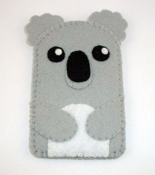 Baby Koala Kawaii Bear Felt Case  iPhone iPod by TheCuriousCaseLLC