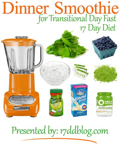 Dinner Smoothie for the Transitional Day Fast on the 17 Day Diet