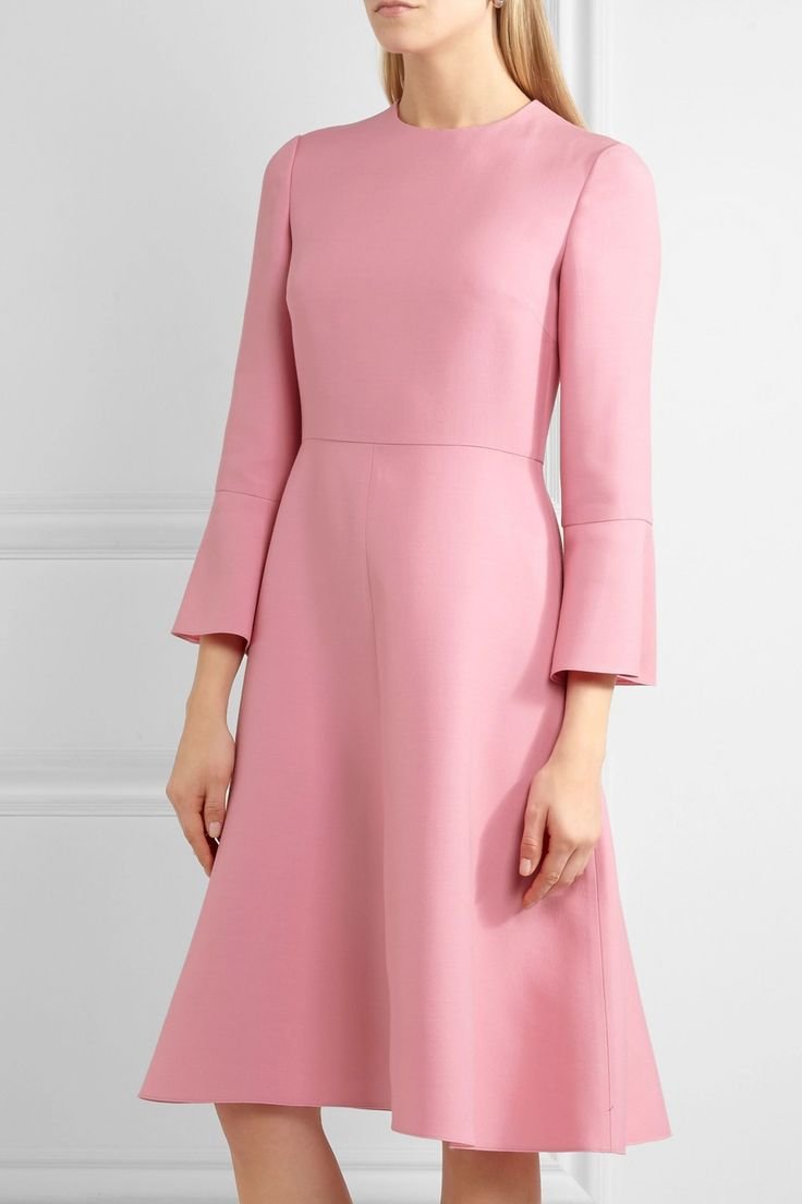 Wool and silk-blend dress   VALENTINO   Sale up to 70% off   THE OUTNET