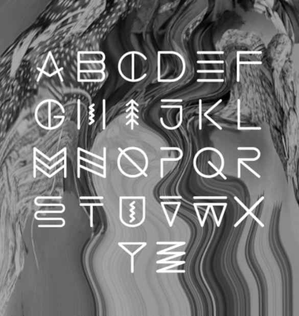 Native American Writing Font