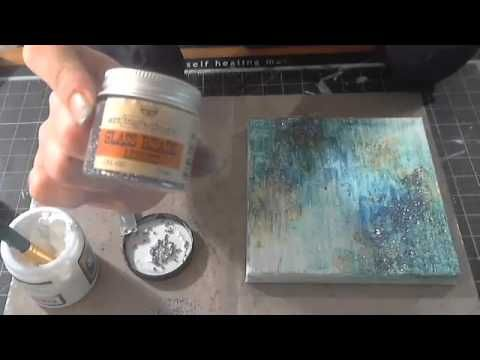 ▶ Mixed Media Collage Canvas with Cari Fennell on Live with Pr - YouTube
