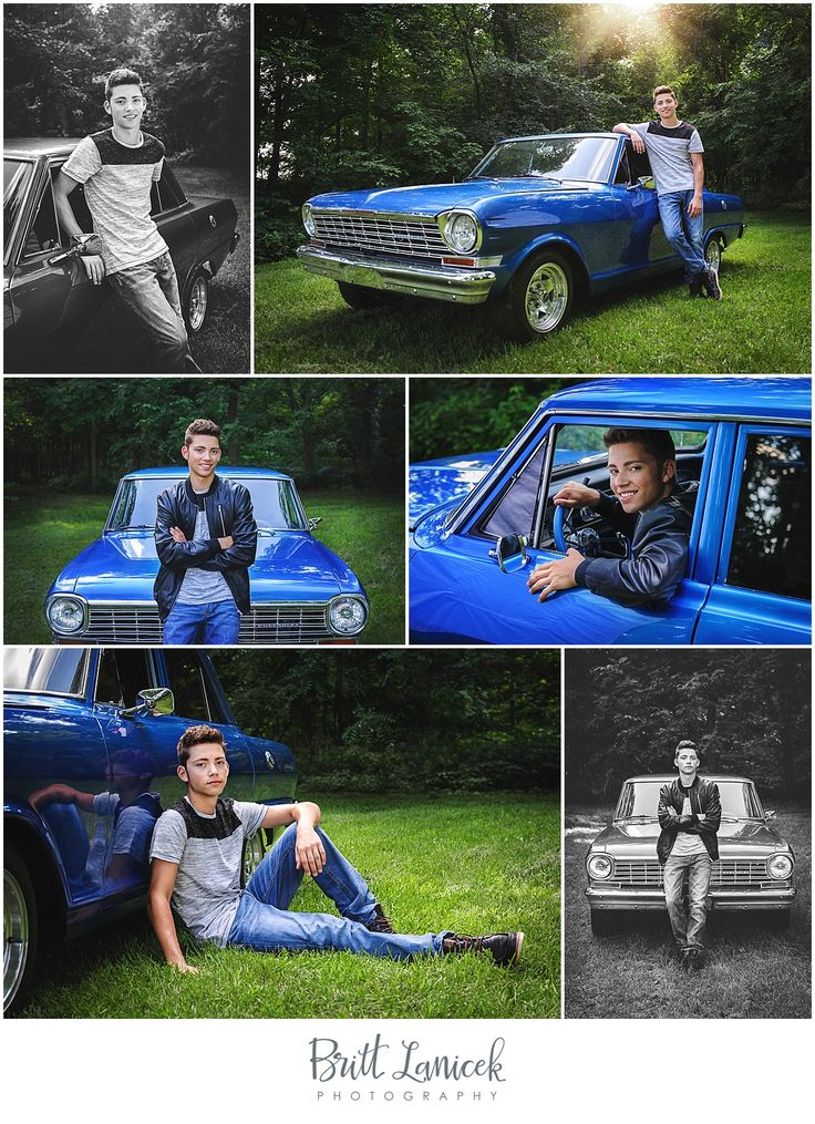 Senior pictures with car | Classic car senior pictures | Senior pictures poses for guys |  Britt Lanicek Photography | http://www.brittlanicekphotography.com