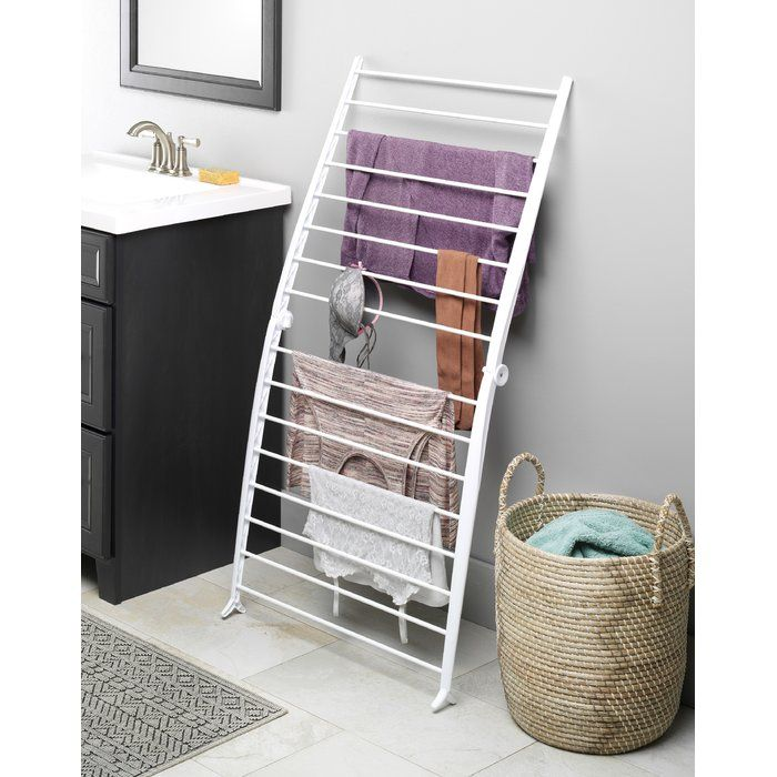 Whitmor offers a wide variety of convenient, energy and space saving drying racks and this versatile Spacemaker™ drying rack is the perfect laundry day companion. Reduce electrical consumption and get fresh-smelling clothes at the same time with this drying rack. From delicate hand-washables to everyday loads of laundry, this Spacemaker™ drying rack offers a simple solution for conveniently air-drying clothes. Traditional machine dryers can sometimes shrink, stretch or generally be harsh on…