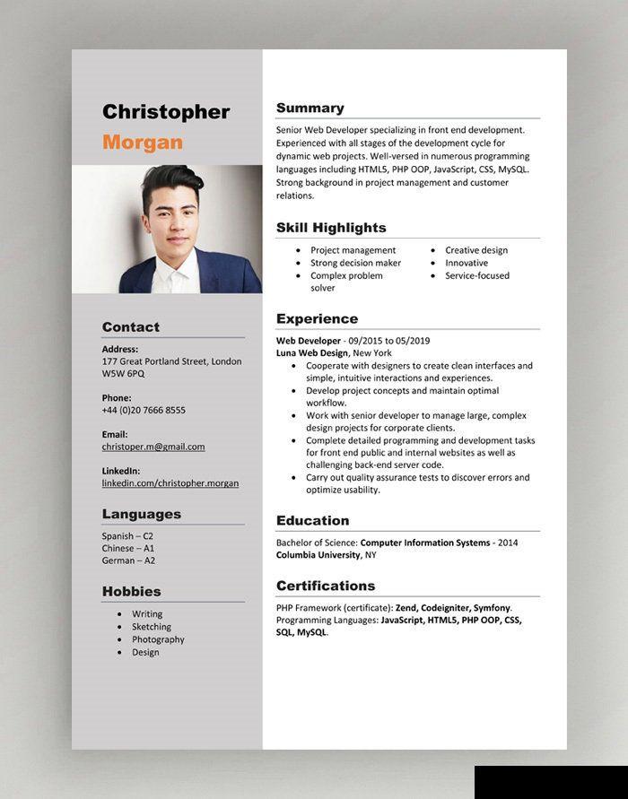 Cv Template Resume With Photo Marketing Cv By Anuradhadigitalstore On Etsy Free Cv Template Word Cv Template Word Downloadable Resume Template