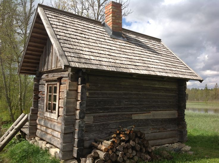 Lovely little traditional wooden sauna in Estonia