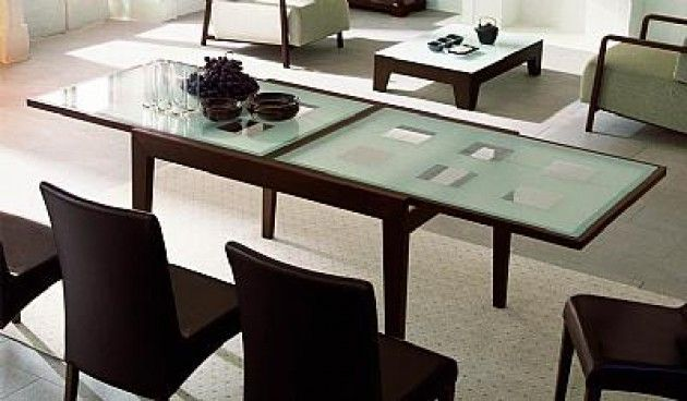 Bon Ton Dining Table Calligaris The Expands From 47 To 94 With An Easy Slide Out Mechanism Width Is 355 Glass Top Available In Coff