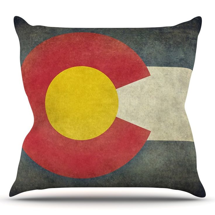 State Flag of Colorado by Bruce Stanfield Throw Pillow