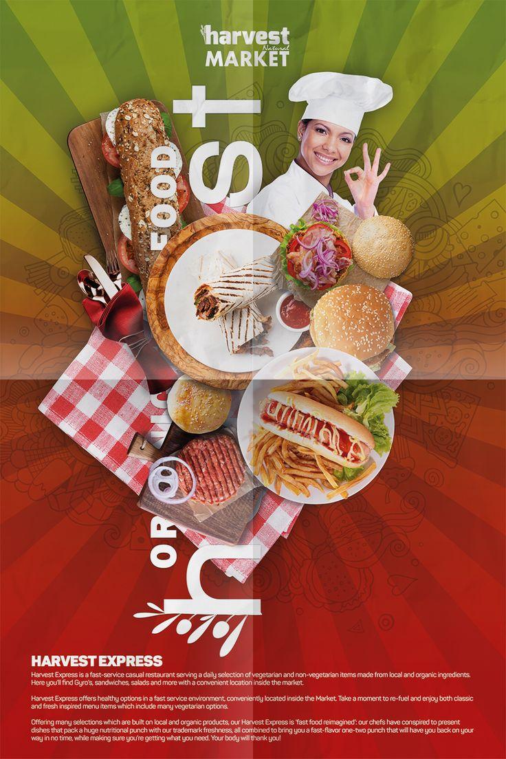 Harvest Natural Market Afiş Tasarım - Fast Food Departmanı