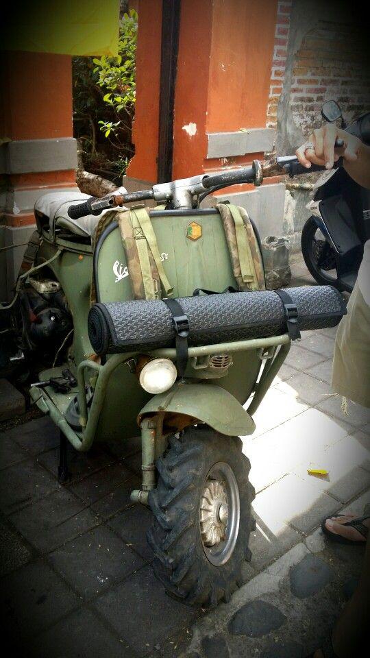 Military Vespa? Found in Ubud,  Bali