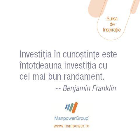 Benjamin Franklin despre cunostinte