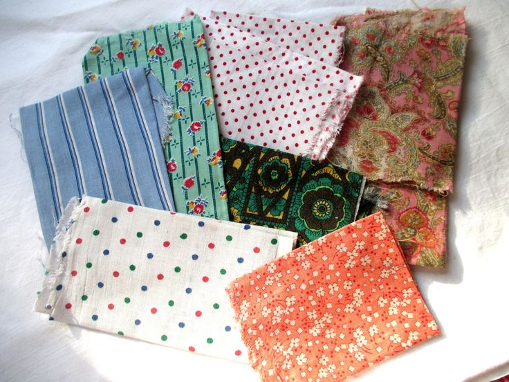 Vintage Fabric, 1940's Fabrics, 1950's Fabrics, 1940's Cottons, 1950's Cottons, Vintage Blue Ticking, Vintage Red Polkadot, Vintage Paisley by MyGrandmothersHouse on Etsy
