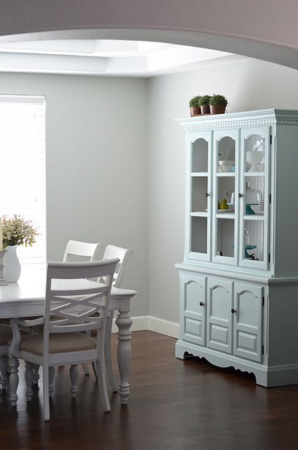 Painted China Cabinet And Dining Table