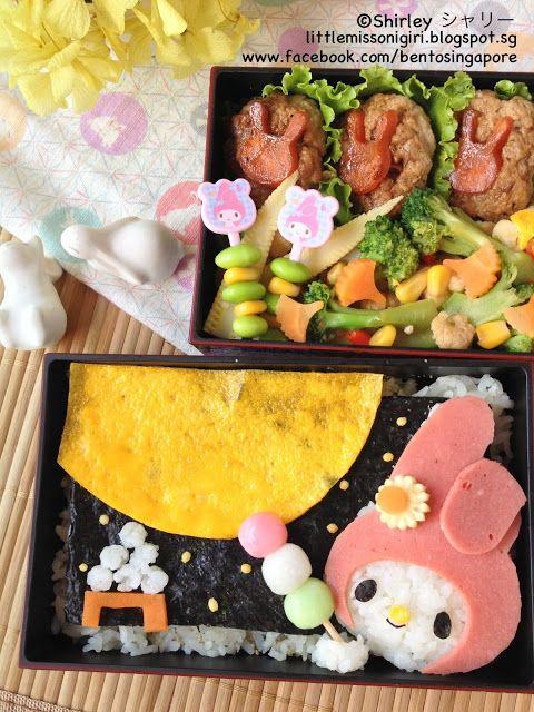 My Melody Otsukimi Bento マイメロディお月見のキャラベン