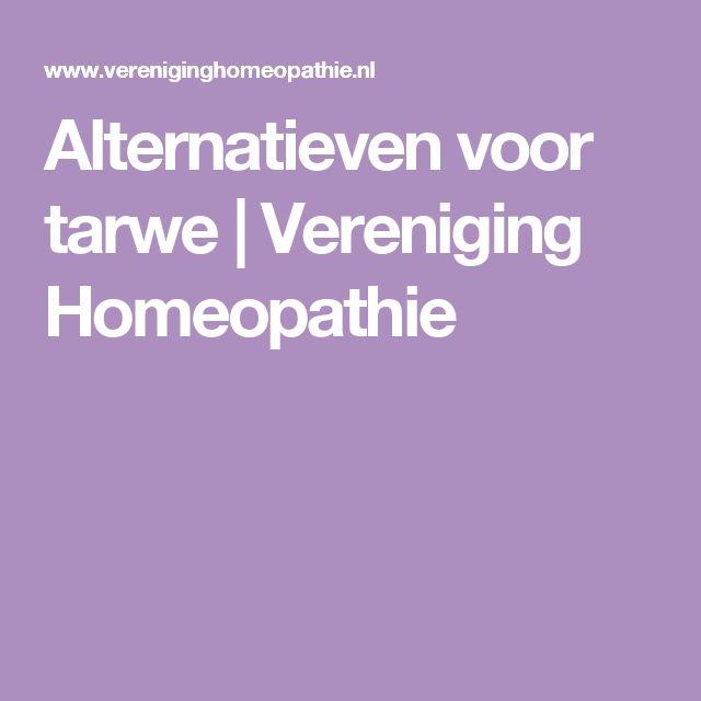 Alternatieven voor tarwe | Vereniging Homeopathie