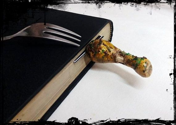 chicken leg bookmark // cook book bookmark by bookmarkartypartisan