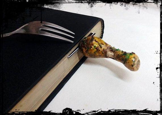 chicken leg bookmark // cook book bookmark by bookmarkartypartisan