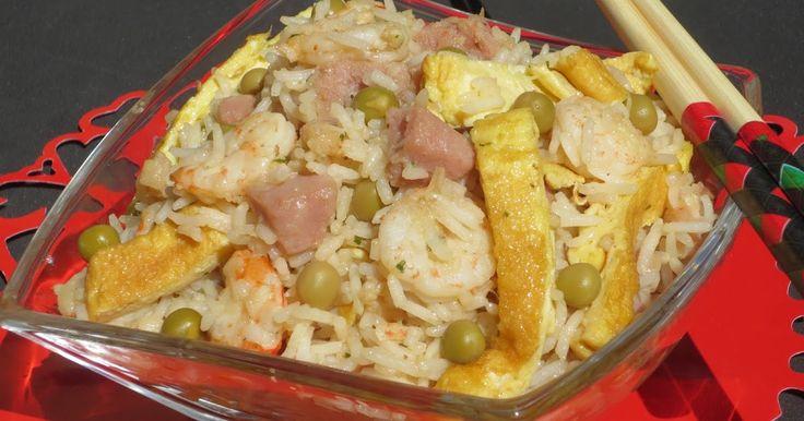 arroz tres delicias con thermomix, ensalada de arroz con thermomix,